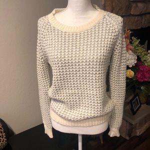 Joie Silver sequin sweater